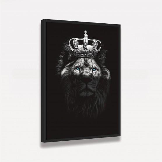 Quadro Leão Majestade - Olhos Azuis