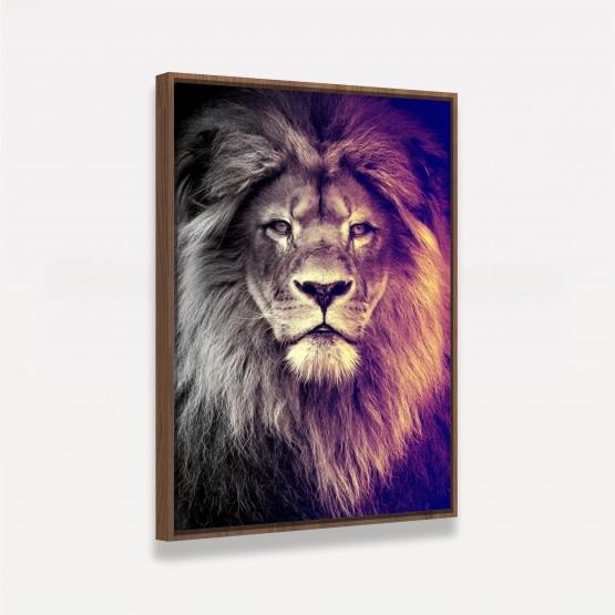 Quadro Leão King Moderno Arte Vertical decorativo