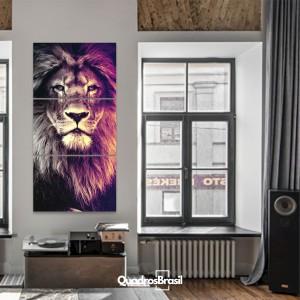 Quadro Decorativo Leão Sala Corredor