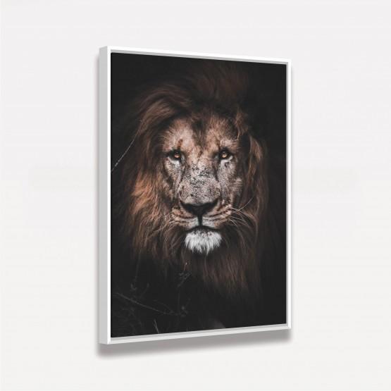 Quadro Leão Old King decorativo