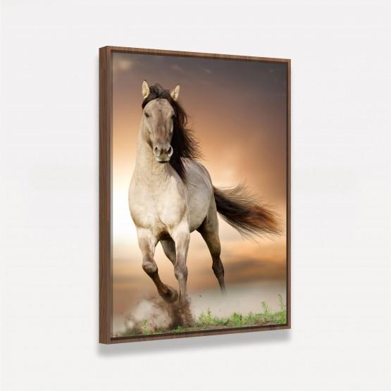 Quadro Decorativo Cavalo Correndo no Campo