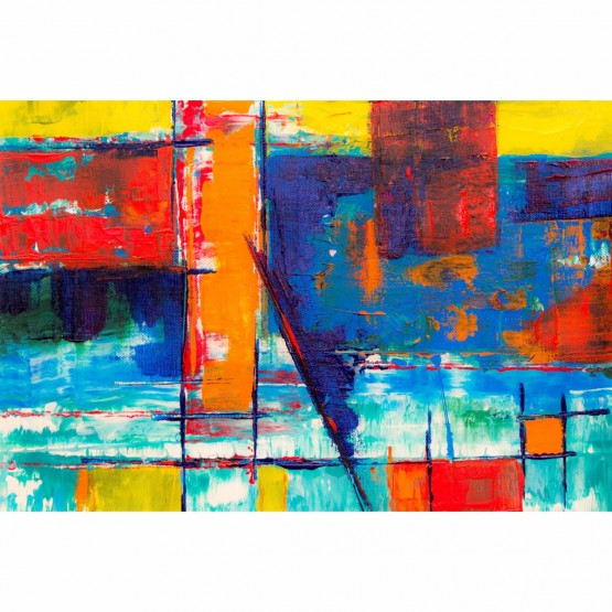 Quadro Abstrato Tela Artística Colorida Moderna