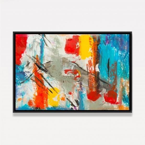 Quadro Abstrato Arte Pintura Colorida decorativo