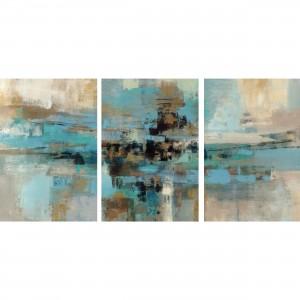 Quadro Abstrato Turquesa Moderno decorativo