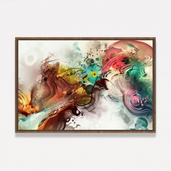 Quadro Abstrato Arte Colorida Moderna