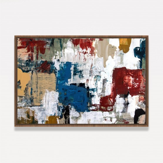 Quadro Abstrato Tons Terrosos Pintura Artístisca