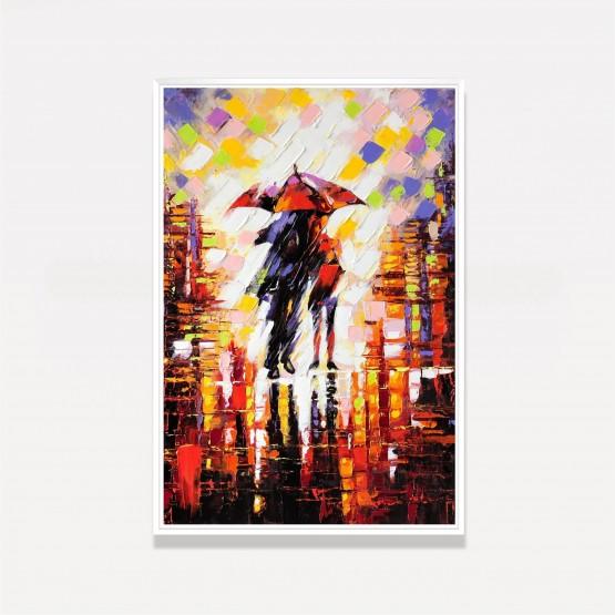 Quadro Abstrato Artístico Colorido - Under the Umbrella