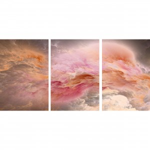 Quadro Nuvens Abstratas Tons de Rosa decorativo