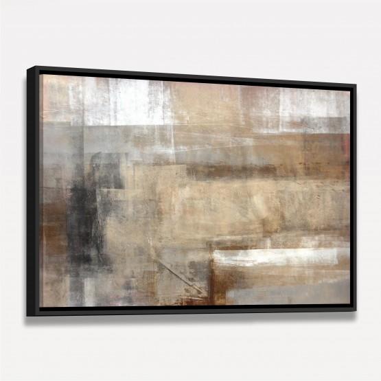 Quadro Abstrato Moderno Pinceladas Retas