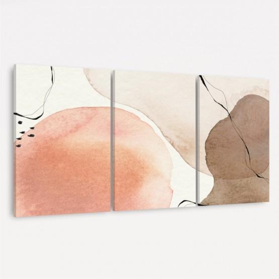 Quadro Abstrato Arte Moderna decorativo - 3 Peças