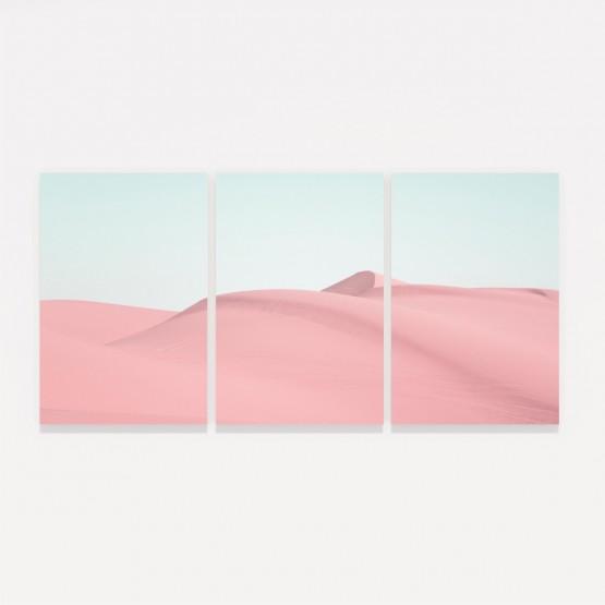 Quadro Dunas de Areia em Rosa Paisagem decorativo
