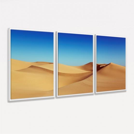 Quadro Dunas de Areia Paisagem decorativo - 3 Peças