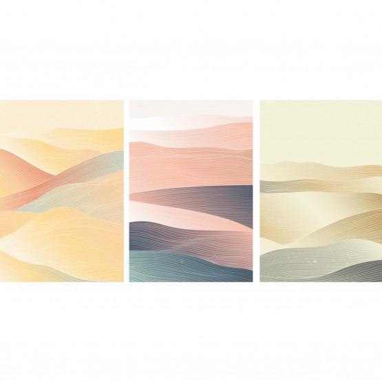 Quadro Abstrato Trio Montanhas Geométrico - Oriental Pattern