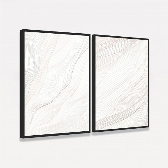 Quadro Abstrato Clean Duo Linhas decorativo