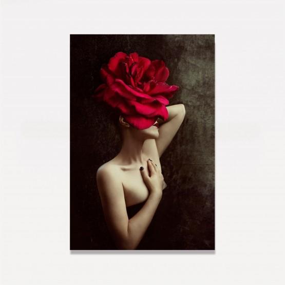 Quadro Mulher em Arte Moderna - With Red Rose