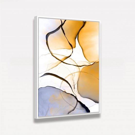 Quadro Arte abstrata Moderno Tons de Amarelo e Roxo