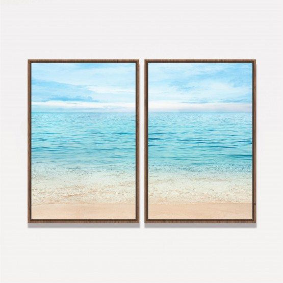 Quadro Praia Mar Verão decorativo - 2 Peças