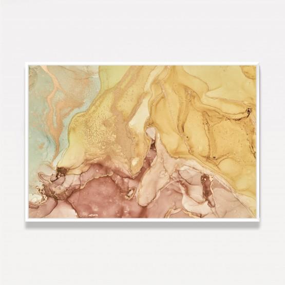 Quadro Abstrato Mármore - Alcohol Moderno