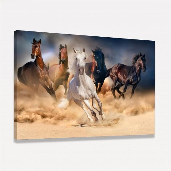 Quadro Cavalos Correndo em Arte decorativo