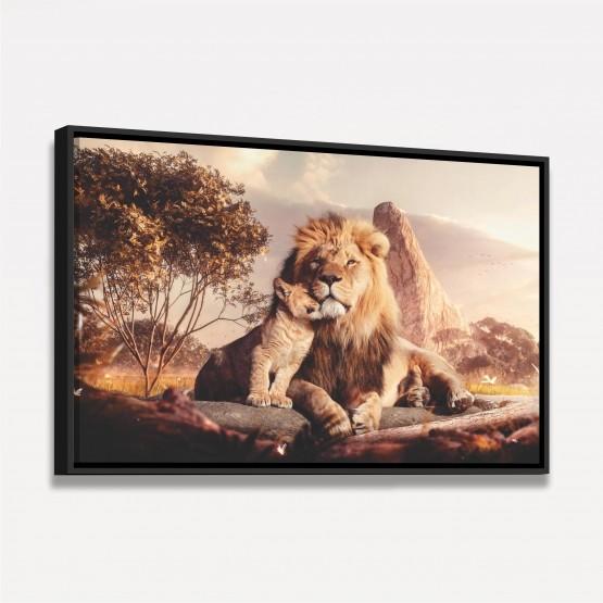 Quadro Leão e Filhote em Arte decorativo