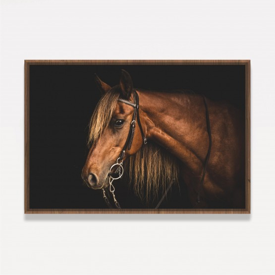 Quadro Cavalo Marrom decorativo Art On Black