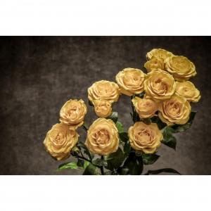 Quadro Flores de Rosa Amarelas - Bouquet of Yellow Flowers