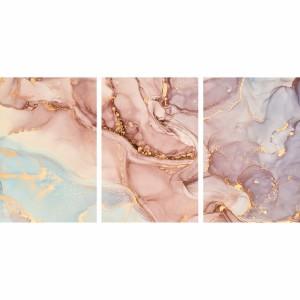 Quadro decorativo Abstrato Mármore Fluido Tons Rosa Elegante
