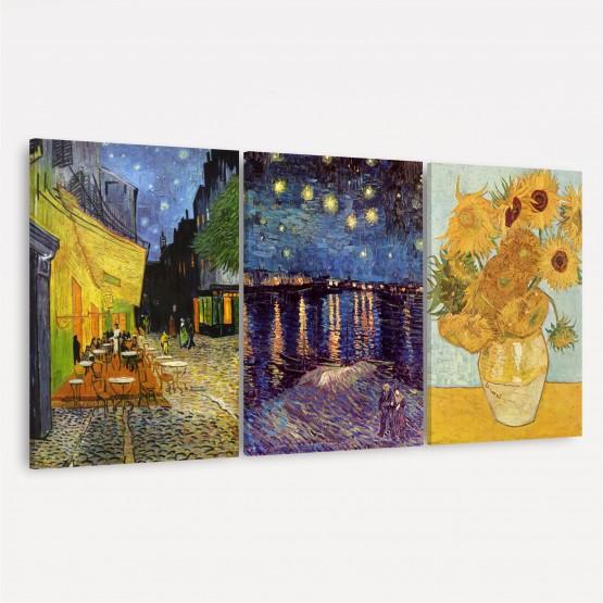 Quadro decorativo Trio de Van Gogh