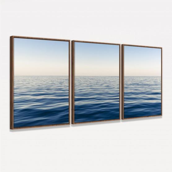 Quadro Mar Azul Paisagem Horizonte - Huge Ocean