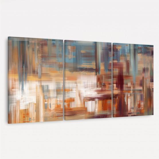 Quadro Abstrato Contemporâneo Arte Moderna - Tons de Marrom