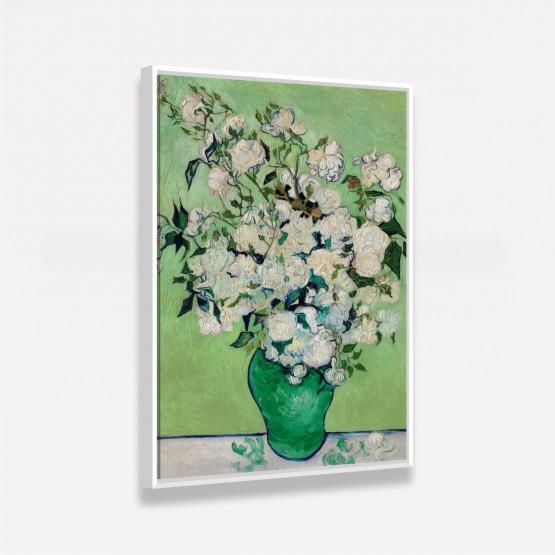 Quadro Iris e Rosas em um Vaso - Van Gogh