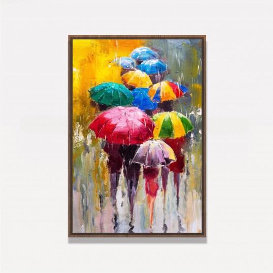 Quadro Abstrato Artístico Dia Chuvoso decorativo