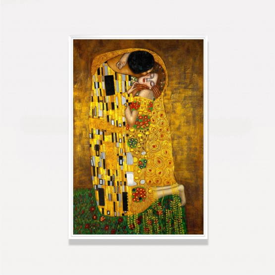 Quadro O Beijo - Gustav Klimt - Releitura