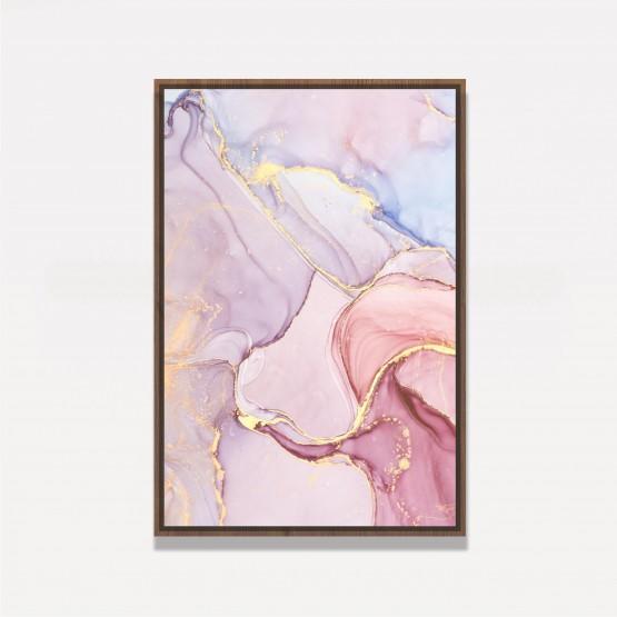 Quadro Abstrato Rose Marmorizado Elegante