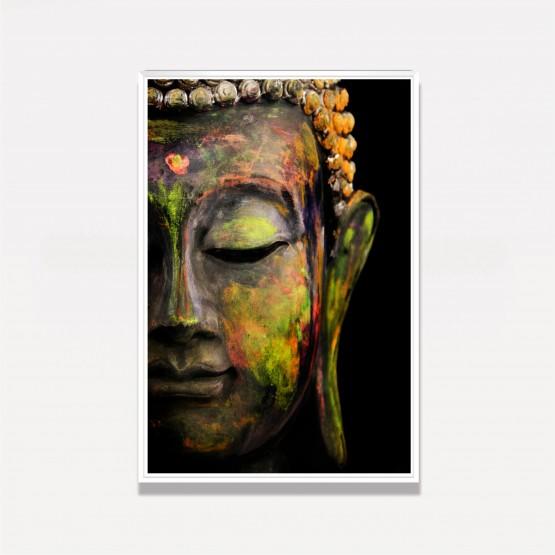 Quadro Buda Colorido em Arte