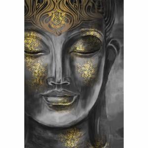 Quadro Buda Budismo Artístico Detalhes Dourados