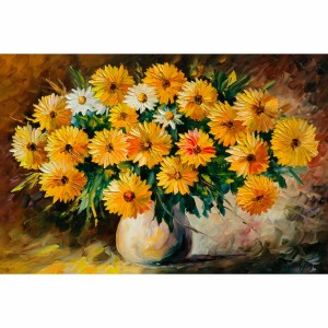 Quadro Vaso de Flores Artístico Moderno decorativo