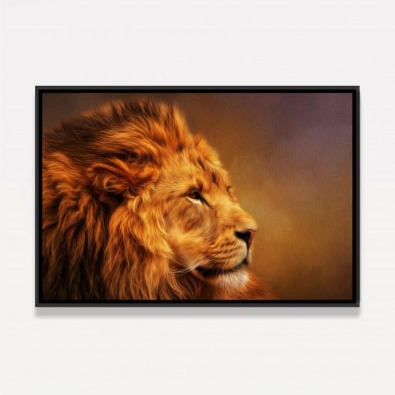 Quadro Leão Moderno decorativo - Art Oil Painting