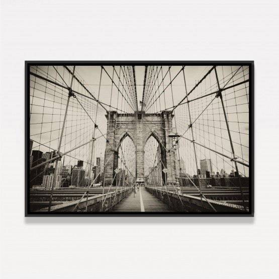 Quadro Ponte do Brooklyn Nova York - Vintage Sépia