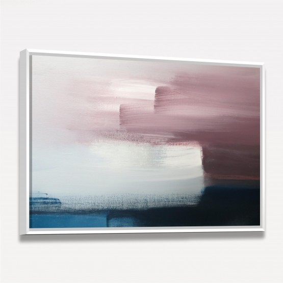 Quadro Abstrato Contemporâneo Rosa e Azul - Design Pintura Moderna