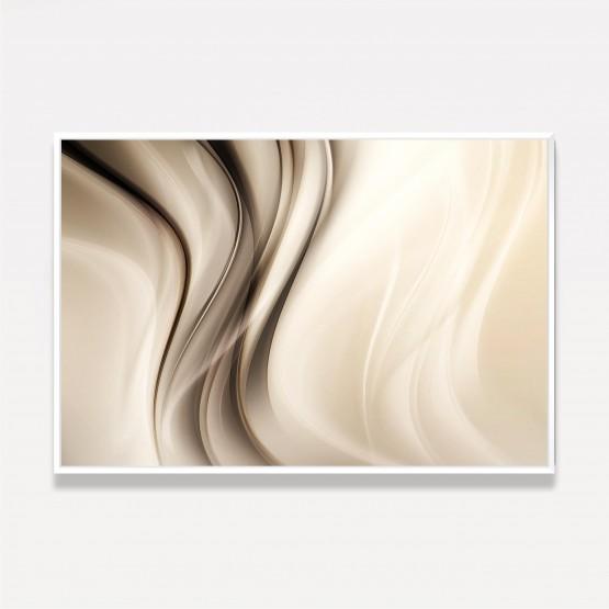 Quadro Abstrato Ondas Brilhante Arte Moderna - Tons de Marrom