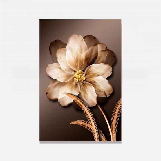 Quadro Flor Luxo em Arte - Drops Of Gold