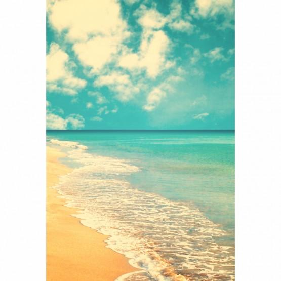 Quadro Praia Mar Ondas Retro Art