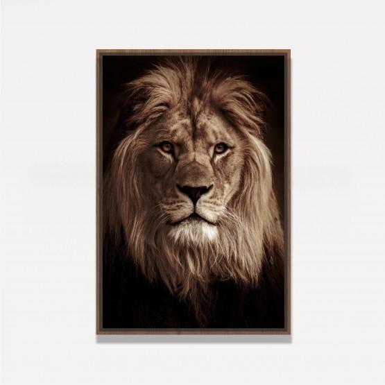 Quadro Leão Retrato em Arte decorativo