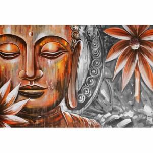Quadro Buda Meditando Espiritual Artístico Pintura