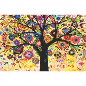 Quadro Árvore Abstrata Colorida decorativo