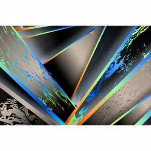Quadro Abstrato Feixes Coloridos Design Hi Tech