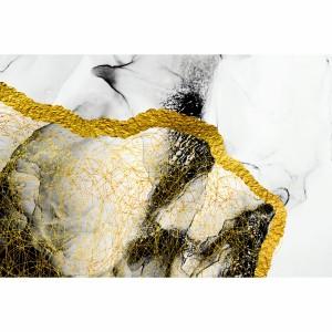 Quadro Abstrato Rabiscos Dourados Elegante decorativo