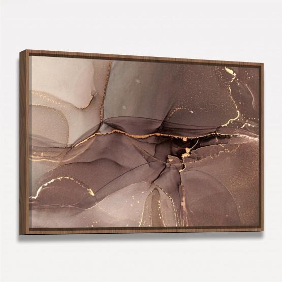 Quadro Abstrato Luxo Alcohol Moderno - Golden Details