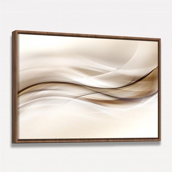 Quadro Abstrato Onda Marrom em Arte Moderna
